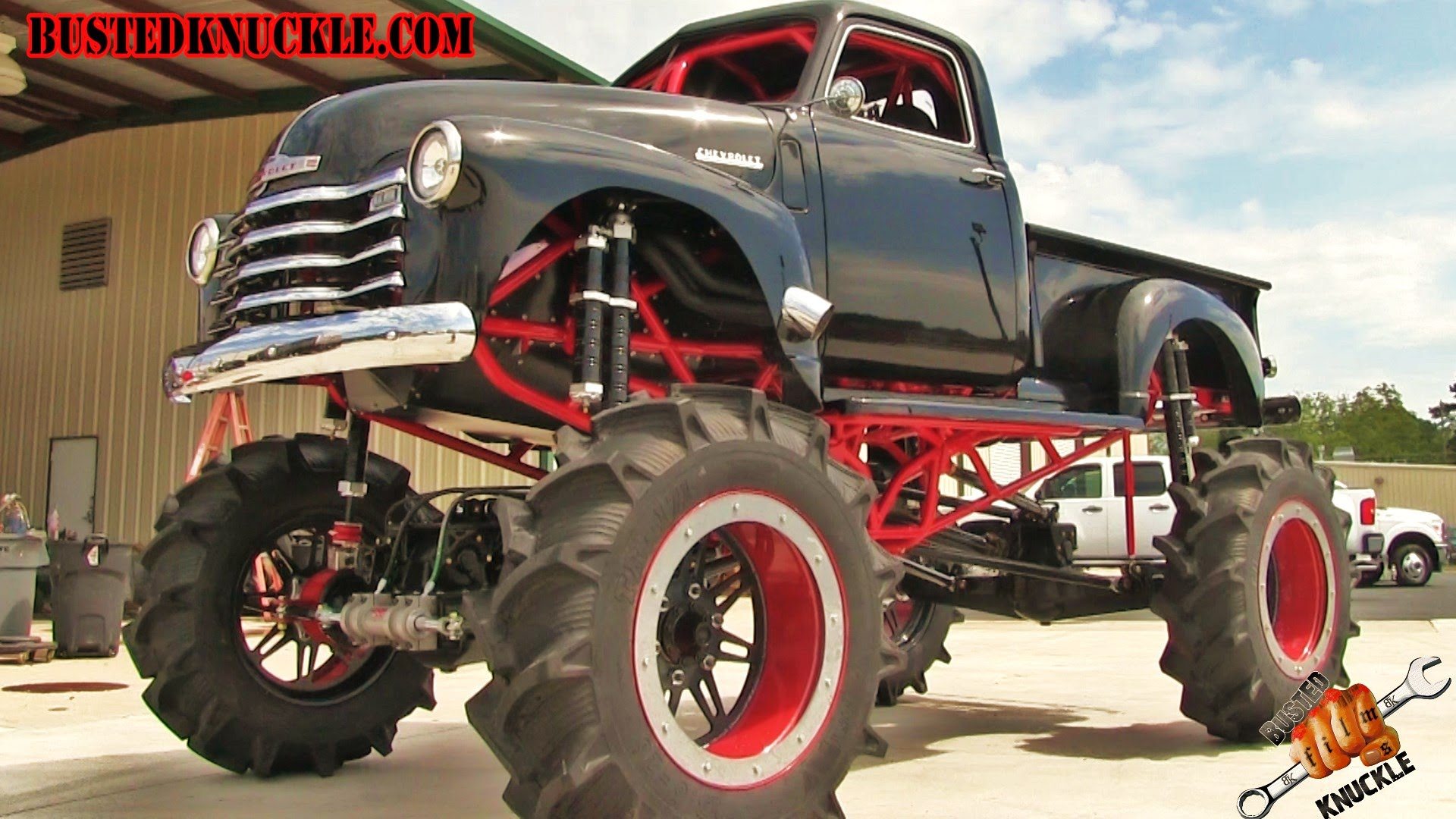 1950 Chevy Stepside 1300hp Mega Mud Truck Is Sick Sweet Sexy And